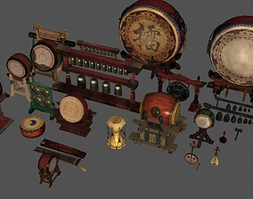 Chinese classical percussion instruments 3D model