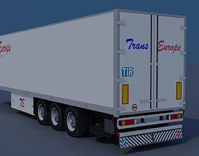 Trailer-refrigerator 3D asset