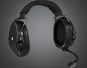 Military Headphones Earguards - MLT - PBR Game 3D asset