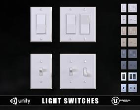 Light Switches 3D asset