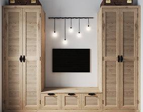 3D Set of wardrobe for bedroom