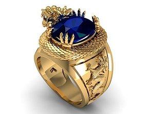 3D printable model ring ruby dragon a