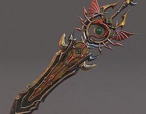 Fantasy sword 11 3d model PBR