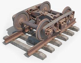 3D model Bogie 18-100 Abandoned