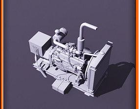 Diesel generator 3D asset