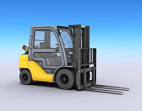 Industrial Forklift 3D model