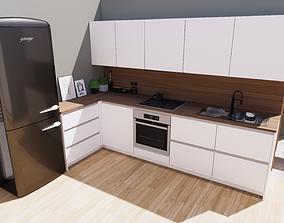 modern kitchen 3D asset VR / AR ready