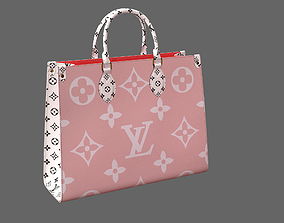 Louis Vuitton Onthego Giant Monogram Pink White Leather 3D