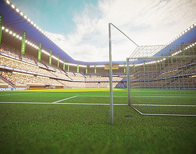 Football Soccer stadium game ready 3d model game-ready