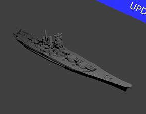 Japanese Yamato Class Battleship 3D print model