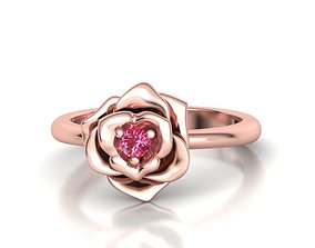 3D print model Flower Engagement ring 3mm stone
