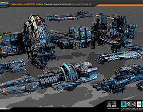 Spaceships Vol-02 3D model game-ready