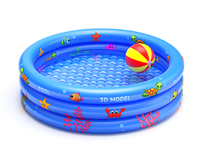 3D ground Inflatable Pool