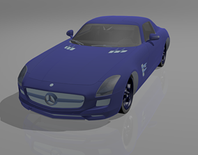 3D asset Mercedes sls