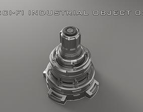 3D Sci-Fi Industrial Object 02