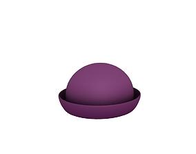 3D asset Women Bowler Hat
