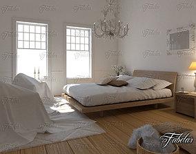 Bedroom 3D model sofa