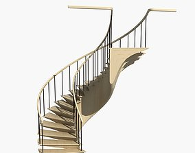 Spiral Staircase emergency 3D