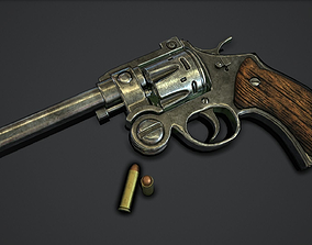 3D asset game-ready revolver Revolver