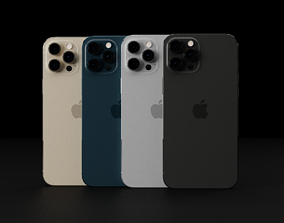 3D model Apple iPhone 12 Pro Max in all Official Colors 1