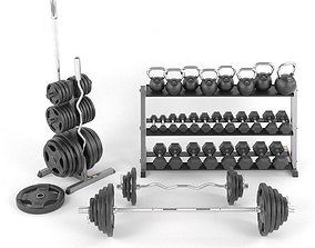 3D model Gym Weights set Body-Solid