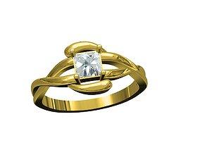 3D printable model Ladies ring brilliant