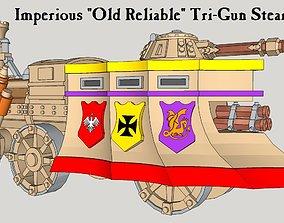 3D printable model 10mm Imperious Heavy Tri-Gun Steam-Tank