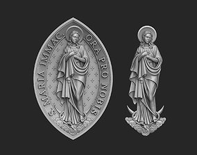 3D printable model Mary Immaculate Relief Set