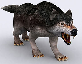 animated 3DRT - Fantasy Animal Wolf