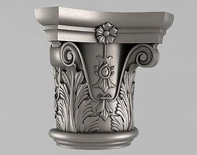 cornce ornament 3D printable model Capitals