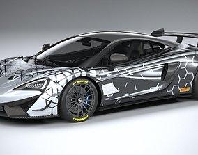 3D model McLaren 620R 2020