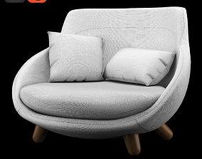 Love Sofa High Back 3D seat