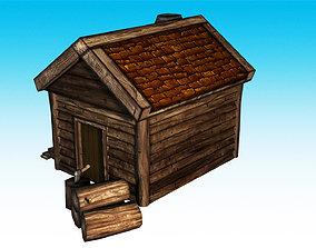 Lumber Jack Hut Low Poly 3D asset