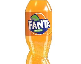 3D model Fanta New Bottle
