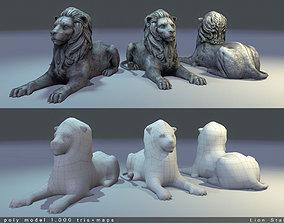 3D model Lion Statue Low Poly
