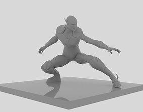 Flash Crouch Figure 3D print model