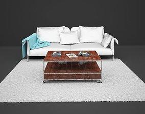 3D Living Room Set set