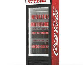 3D model Coca cola beverage fridge