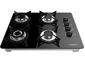 Fogatti Cooktop 4 Burners V400 TC 3D model