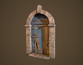 Old Door 3D asset low-poly