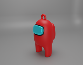 3D print model among us key ring