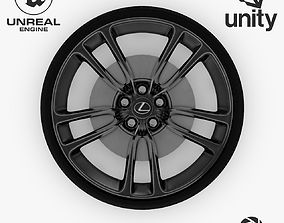 3D model Wheel Steel-Chrome Dark Alloy Rim Lexus 19 2