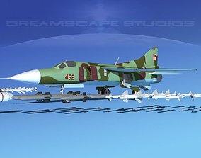3D Mig-23 Fighter V16 Poland