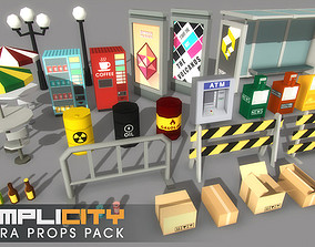 3D asset SimpliCity Extra Props - cartoon