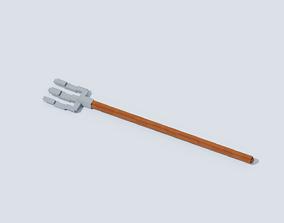 Voxel Pitchfork T1 3D model
