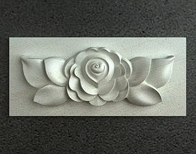 3D model Carving flower 001