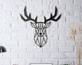 DEER WALL SCULPTURE 2D II 3D print model