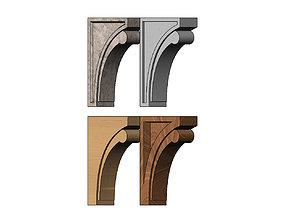 Simple modern corbel bracket 3D printable model