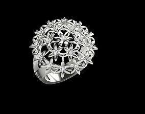 3D print model STUNNING FLOWER RING FOR LADIES SBR