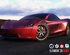 3D asset realtime Tesla Roadster 2020